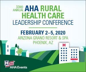 AHA Rural Health Care Leadership Conference banner